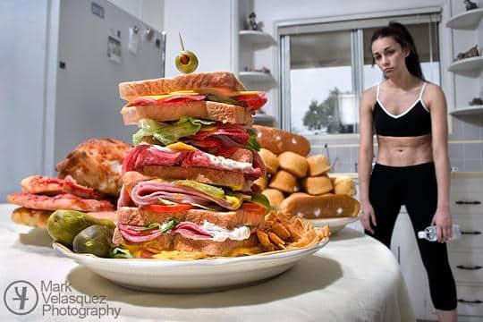 ejercicio comiendo